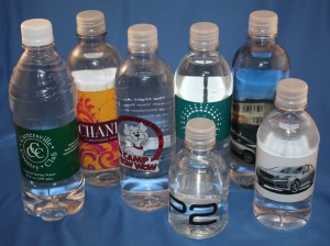 custom bottled water, water bottle labels