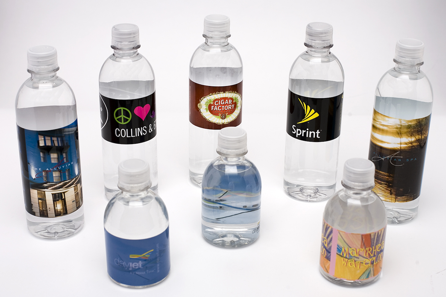 Custom water bottle labels get your business seen in for How to put labels on bottles